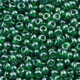 Бисер чешский 56060 прозрачный темно-зеленый блестящий Preciosa 1 сорт