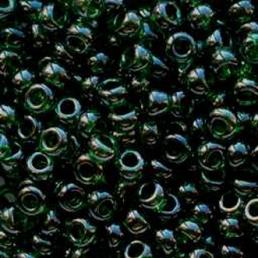 Бисер чешский 56150 прозрачный темно-зеленый блестящий Preciosa 1 сорт