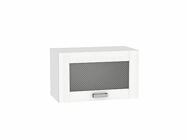 Шкаф верхний Лофт ВГ600 со стеклом (Snow Veralinga)