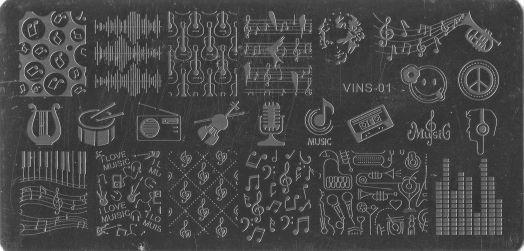 Стемпинг плитка высшее качество  VINS 01