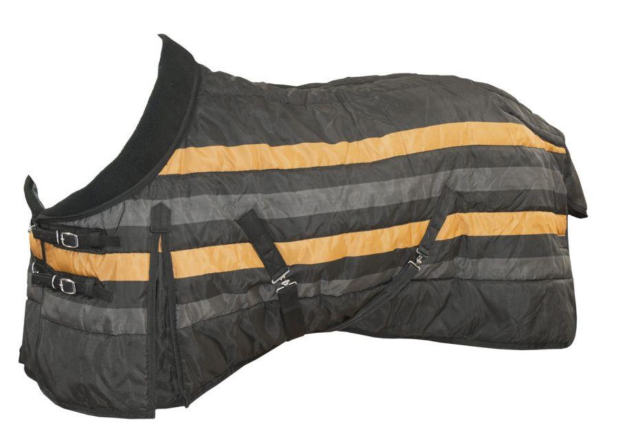 "Супер крепкая  попона ""Horse Comfort"" 1200 ден. на утеплителе 200 г/м 155 черная"