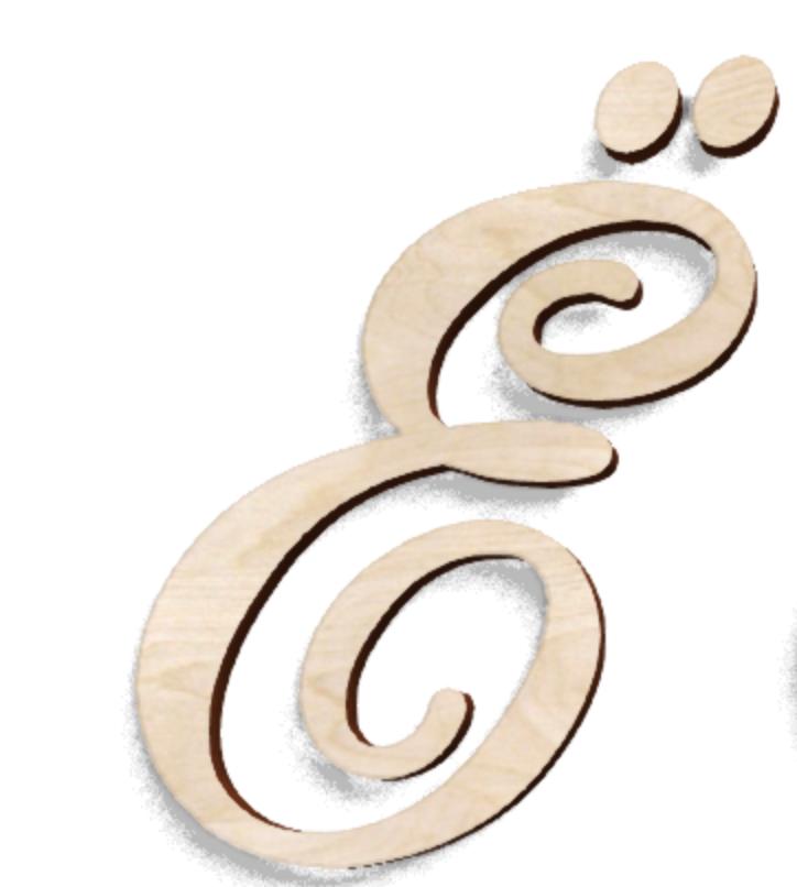 Деревянная буква Ё (ЙО)