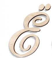 Деревянная буква Ё