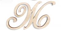 Деревянная буква Ж