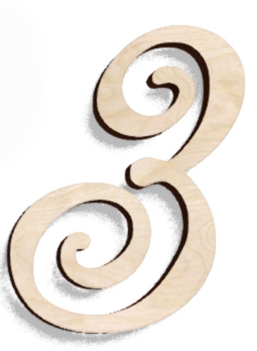 Деревянная буква З