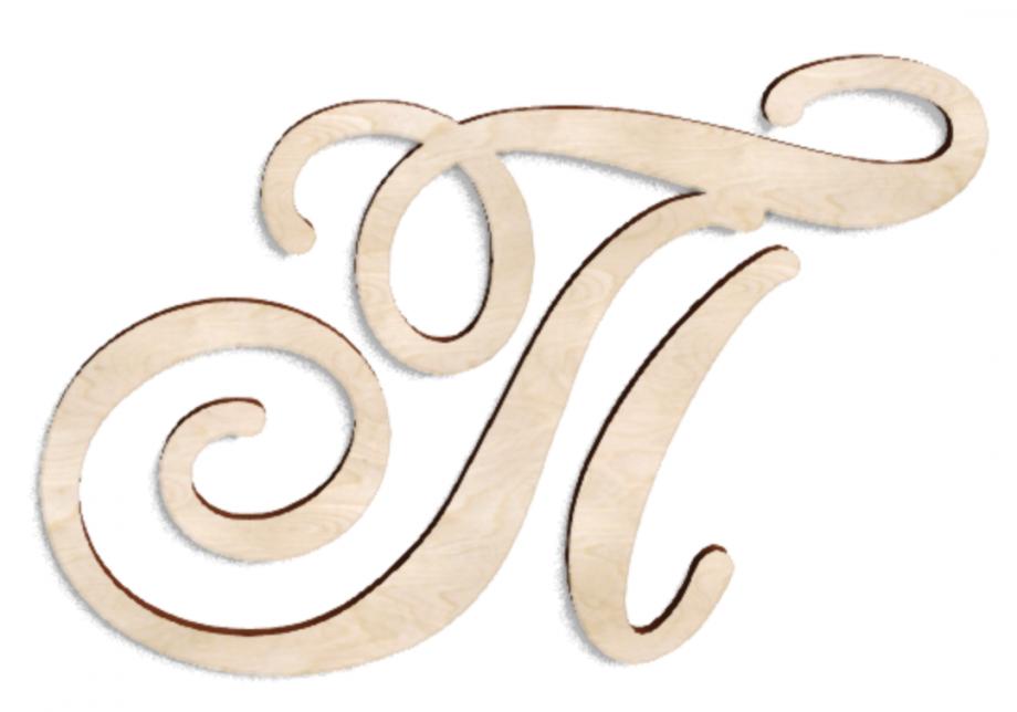 Деревянная буква П