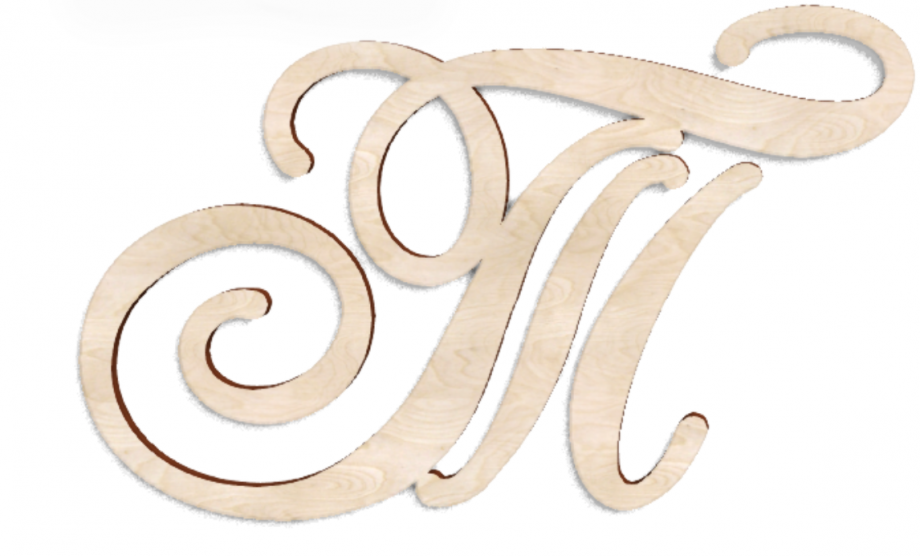 Деревянная буква Т