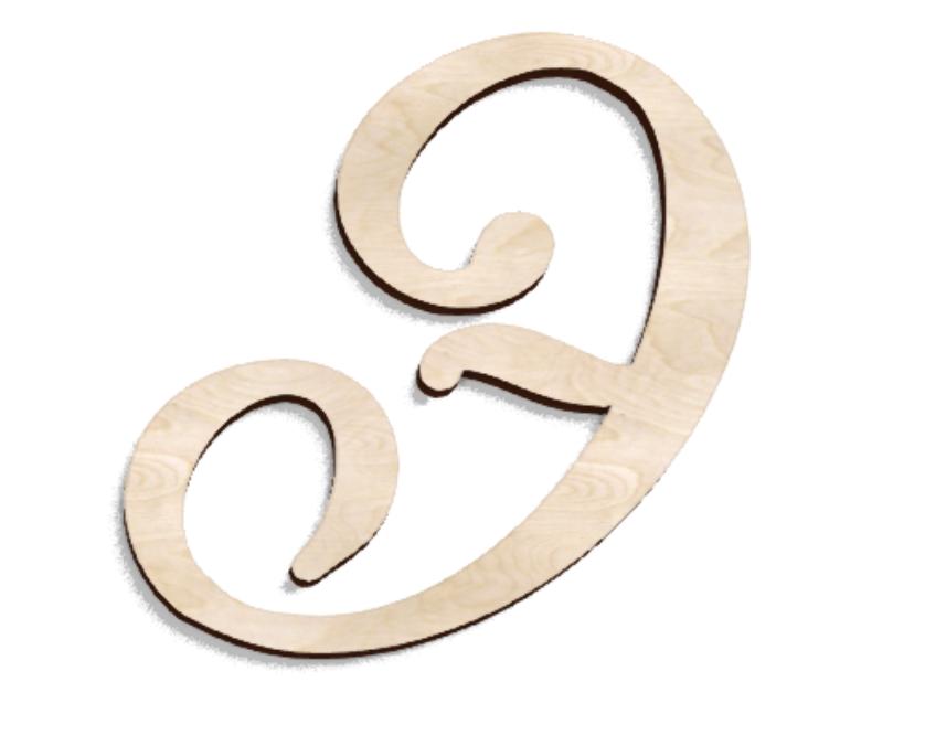 Деревянная буква Э