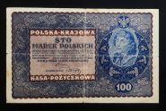 Польша 100 марок 1919 год