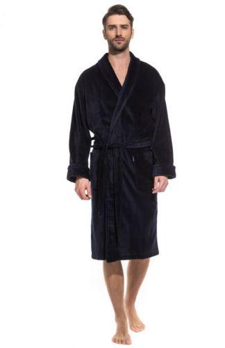 Черный махровый мужской халат Optimum