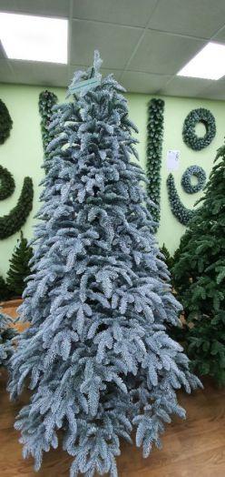 Искусственная елка Нормандия Пушистая full РЕ 185 см заснеженная