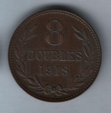 8 дублей 1918 года Гернси XF