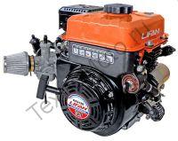 Lifan GS212E D20 (13 л. с.) с катушкой освещения 7Ампер (84Вт) четырехтактный, одноцилиндровый, бензиновый двигатель с воздушным охлаждением, мощностью 11 л. с., диаметр выходного вала 20 мм. Двигатель укомплектован ручным и электрическим стартером, датчи