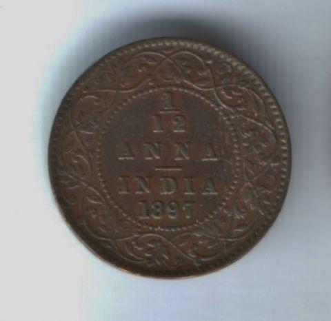 1/12 анны 1897 года Индия