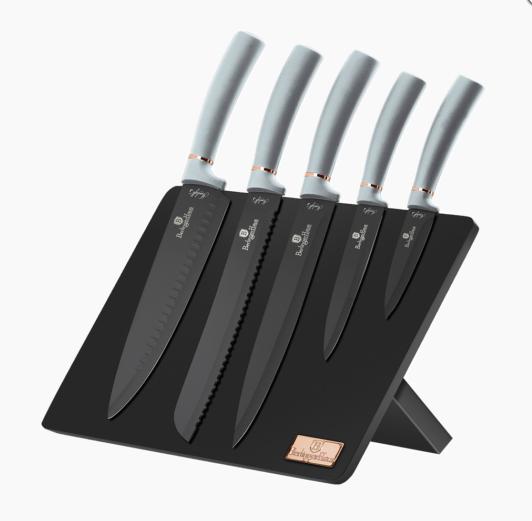 Набор ножей на магнитной подставке, 6пр. Berlinger Haus MOONLIGHT COLLECTION BH-2515