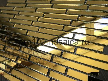 G74 Золотое зеркало. Мозаика зеркальная серия VANTAGGIO, 347*190*4 мм (VIVERE)