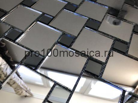 SD50 Серебро+Графит зеркало Мозаика зеркальная серия VANTAGGIO, 300*300*4 мм (VIVERE)