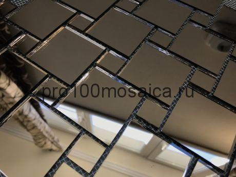 BB50 Бронзовое зеркало Мозаика зеркальная серия VANTAGGIO, 300*300*4 мм (VIVERE)