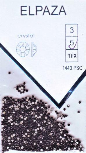 Стразы ELPAZA  CRYSTAL SS5 1440 шт. черные