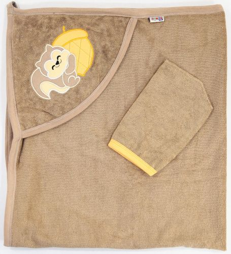 "Полотенце махровое для новорожденных 100х95 см Bonito ""Белка"""