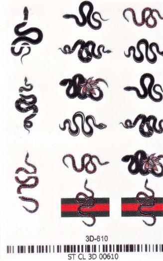 3D Слайдер-дизайн 3D 610 змеи