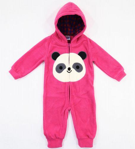 """Флисовый комбинезон для новорожденных Bonito kids """"Panda"""" малиновый"""