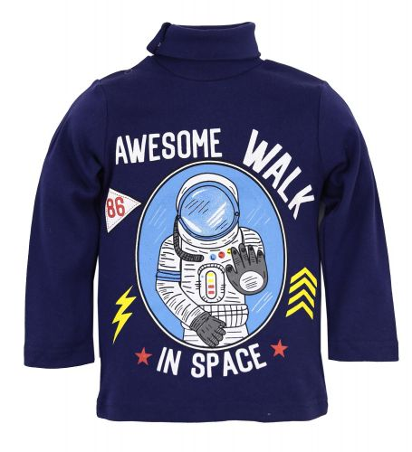 "Водолазка для мальчика Bonito kids ""awesome Walk in Space"" 1-4 года"