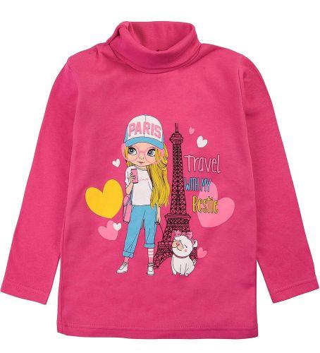 """Водолазка для девочек Bonito kids 1-4 года """"Paris"""" малиновая"""