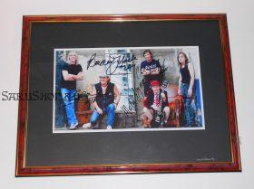 Автографы: AC/DC. Ангус Янг, Малколм Янг, Фил Радд, Клифф Уильямс, Брайан Джонсон. Редкость