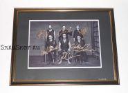 Автографы: Rammstein. Т.Линдеманн, Р.Круспе, П.Ландерс, о.Ридель, К.Шнайдер, К.Лоренц