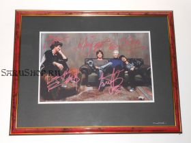 Автографы: The Rolling Stones. Мик Джаггер, Кит Ричардс, Чарли Уоттс, Рон Вуд