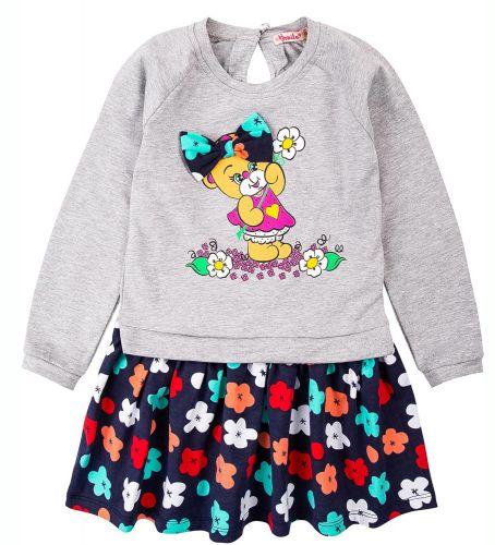 """Платье для девочек Bonito 2-6 лет """"Медведица"""" меланж"""