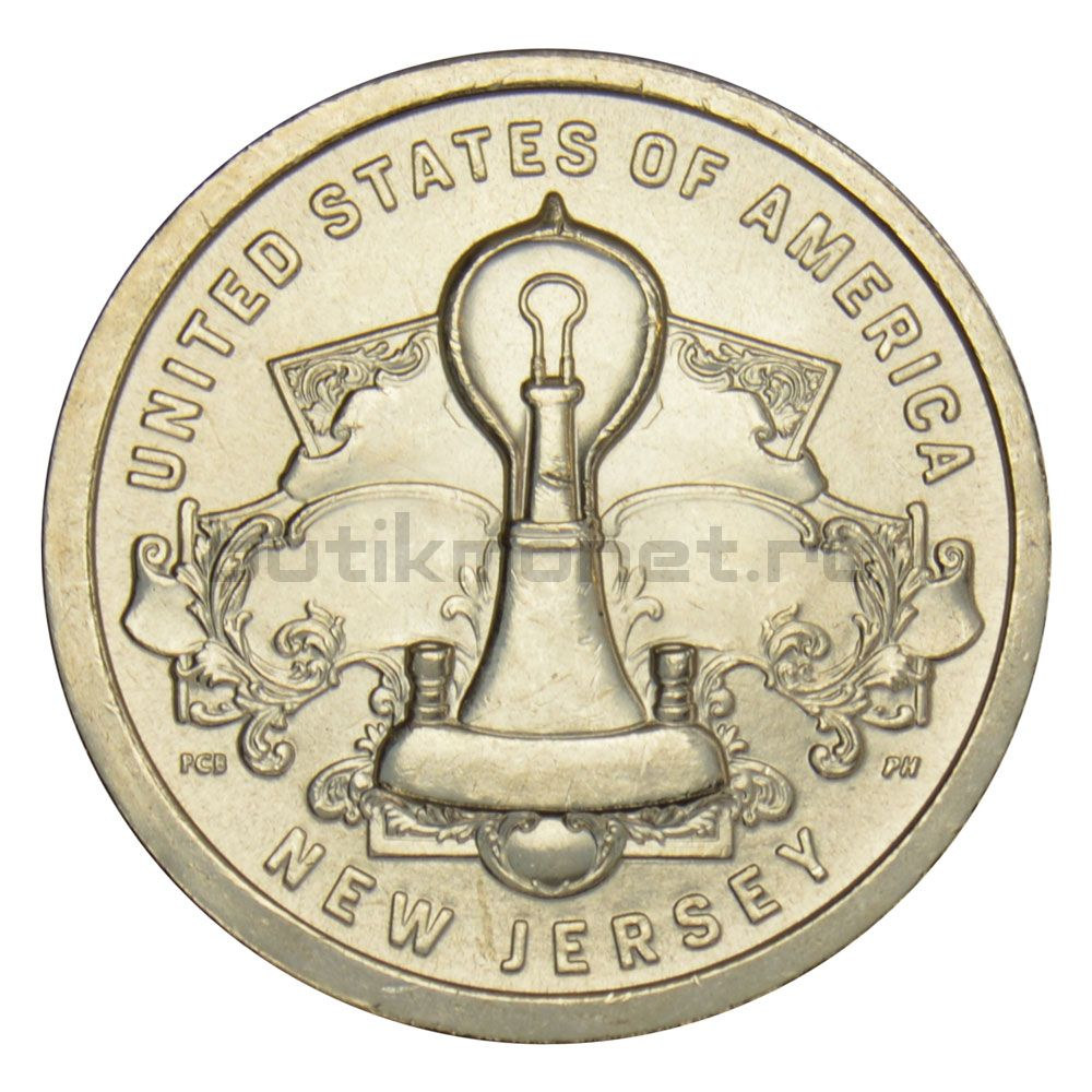 1 доллар 2019 США Лампа накаливания (Американские инновации)