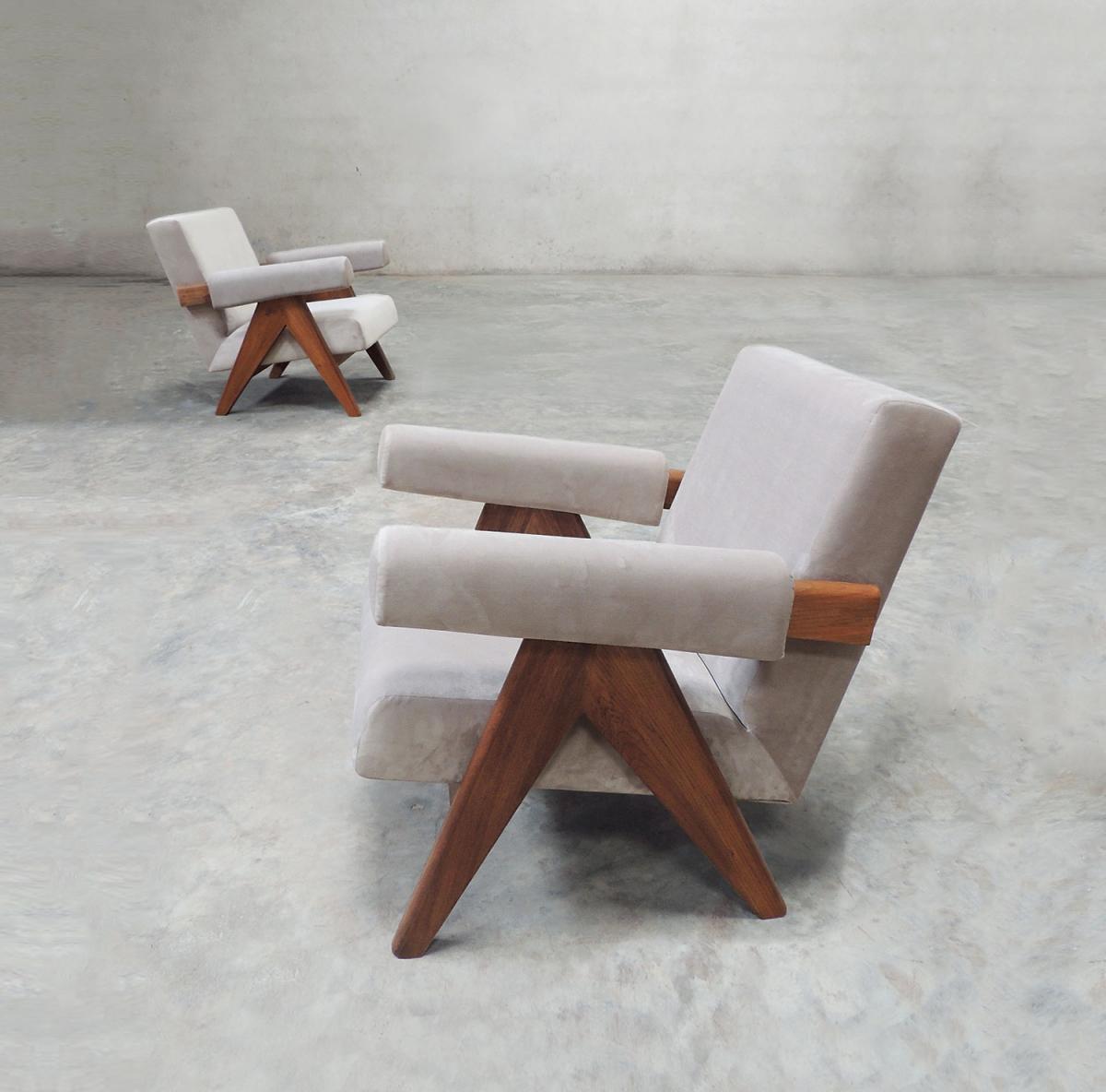 Кресло Pierre Jeanneret PJ-01 (ткань)