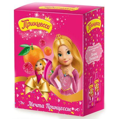 Принцесса Подарочный набор Мечта Принцессы (Шампунь 2в1 Калинка-малинка 300 мл + Гель для душа Молочный апельсин 300мл)
