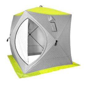 Палатка зимняя PREMIER КУБ утепленная 1,8х1,8 yellow lumi/grey