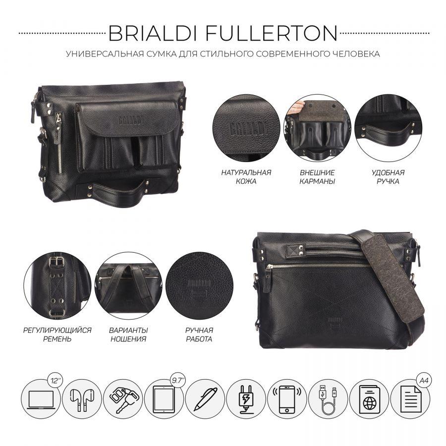 Универсальная сумка BRIALDI Fullerton (Фуллертон) relief black