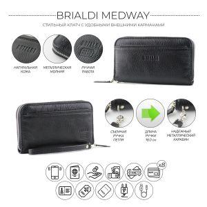 Мужской клатч BRIALDI Medway (Медуэй) relief black