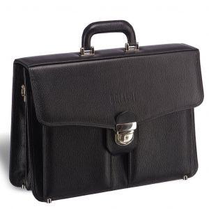Классический каркасный портфель BRIALDI Brisbane (Брисбен) relief black