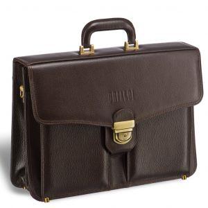 Классический каркасный портфель BRIALDI Brisbane (Брисбен) relief brown