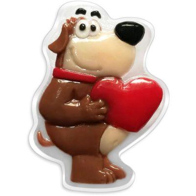 Liss Kroully Skin Juice Подарочное мыло туалетное фигурное Коричневая собака с сердцем