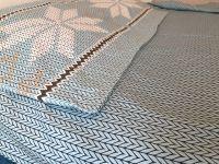 Постельное белье из фланели Северная легенда голубая,  ASHGABAD TEXTILE