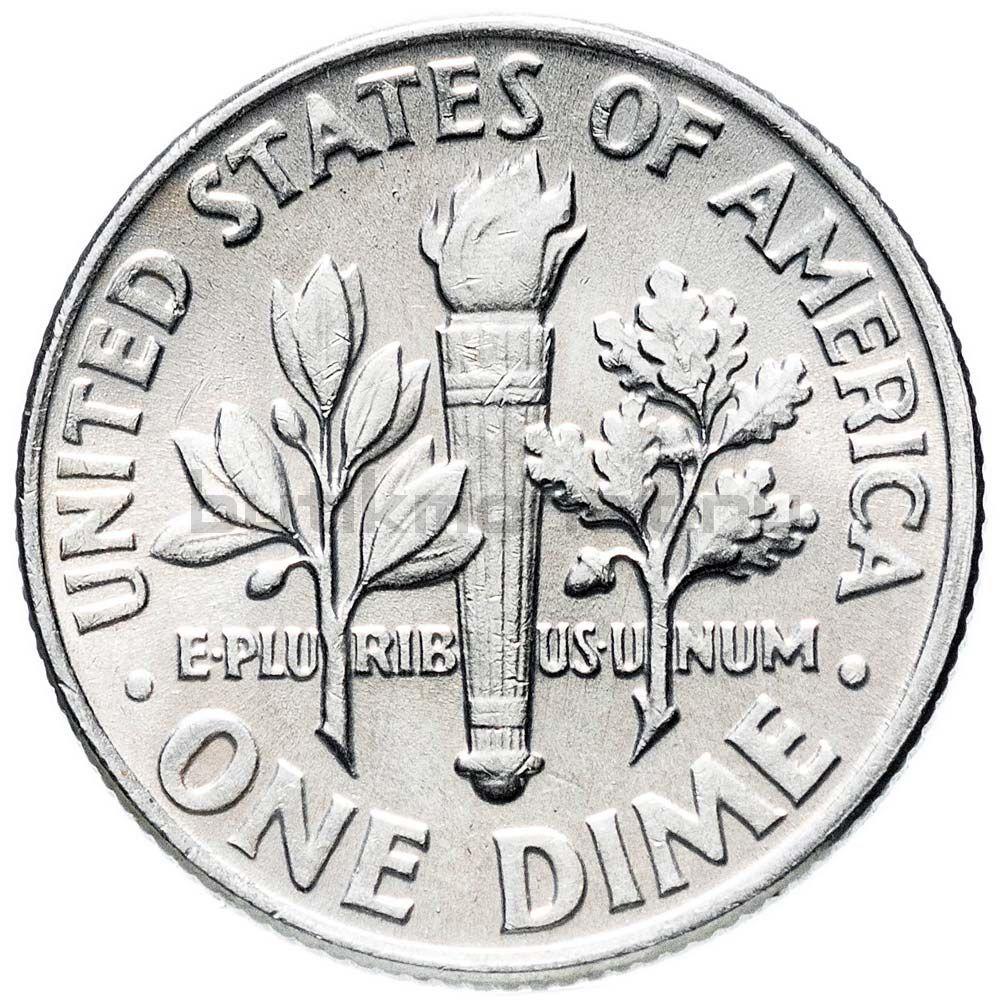 1 дайм 1964 США Silver Roosevelt Dime