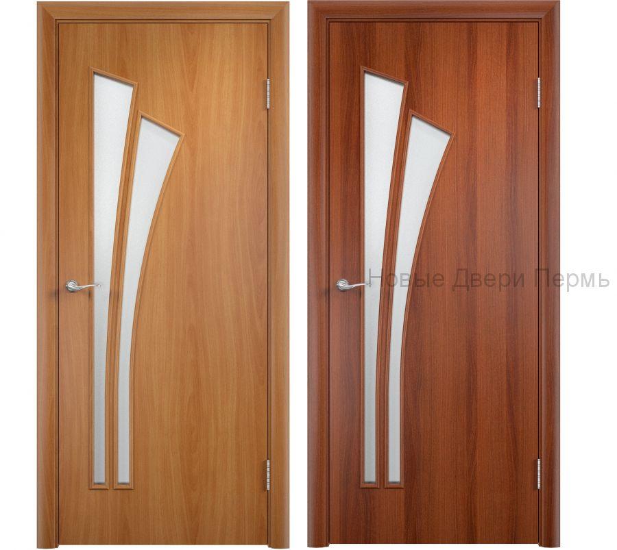 """""""С-7 Салют"""" ДО ламинированная дверь со стеклом"""