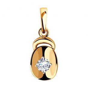 Подвеска из золота с фианитом 035801 SOKOLOV