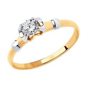 Кольцо из золота со Swarovski Zirconia 81010455 SOKOLOV