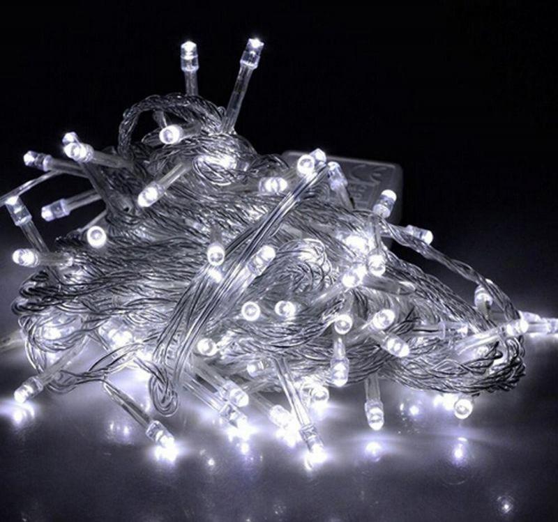 Светодиодная Гирлянда, 100 LED 8.5 м, Цвет Белый Холодный