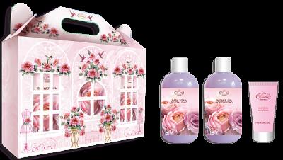 Liss Kroully Luxury Парфюмерно-косметический подарочный набор NP-1905 Крем для рук увлажняющий 75 мл + Пена для ванн 300 мл + Гель для душа 300 мл