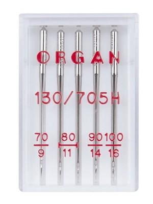 Иглы ORGAN стандартные набор №70-100 (5шт.)