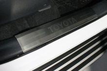 Накладки на пороги, TCC, матовая сталь с лого, на пластик